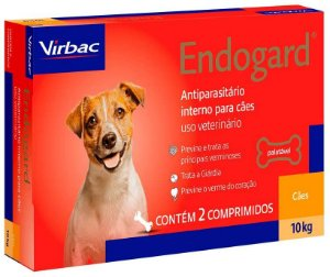 Vermífugo Endogard - Cães até 10kg Virbac 2 Comprimidos