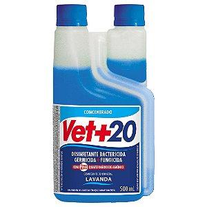 Desinfetante Bactericida Lavanda - Concentrado 500ml Vet+20
