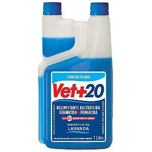 Desinfetante Bactericida Lavanda - Concentrado 1L Vet+20