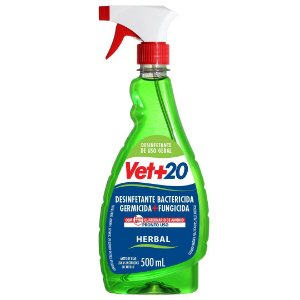 Spray Desinfetante Bactericida Herbal - 500ml Vet+20