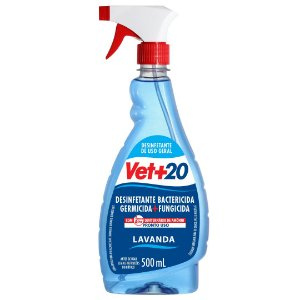 Spray Desinfetante Bactericida Lavanda - 500ml Vet+20