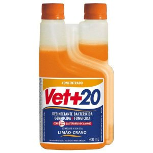 Desinfetante Bactericida Limão Cravo - Concentrado 500ml Vet+20