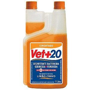 Desinfetante Bactericida Limão Cravo - Concentrado 1L Vet+20