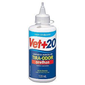 Loção limpa Orelhas - 120ml Vet+20