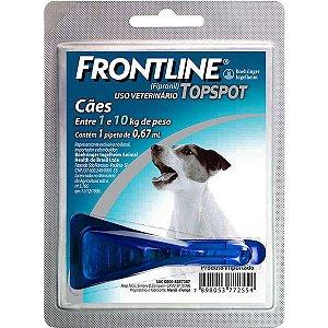 Antipulgas e Carrapatos Frontline Topspot - Cães de 1kg a 10kg