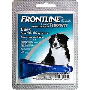 Antipulgas e Carrapatos Frontline Topspot - Cães de 40kg a 60kg