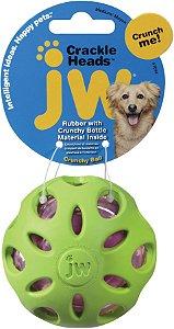 Bola Crackle para cães JW - M Verde