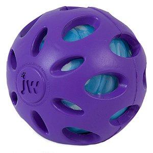 Bola Crackle para cães JW - G Roxa
