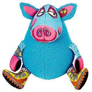 Brinquedo Pelúcia Gruntleys - Mini Azul Fatcat