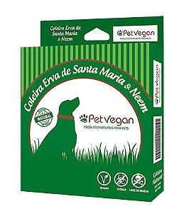 Coleira Natural Anti-pulgas Erva de Santa Maria - Cães e Gatos até 8kg PetVegan