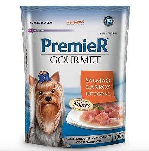 Alimento Úmido Premier Cães Gourmet - Salmão e Arroz Integral 100g