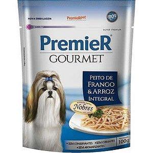 Alimento Úmido Premier Cães Gourmet - Frango e Arroz Integral 100g