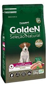 Ração para Cachorro Filhote Raça Pequena Golden Seleção Natural - Frango e Arroz 10,1kg