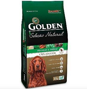 Ração Cachorro Adulto Golden Seleção Natural - Frango e Arroz 15kg