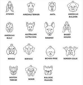 Dogs para Pulseira Coleção Família (raças de A a D)