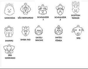 Dogs para Pulseira Coleção Família (raças de S a Y)