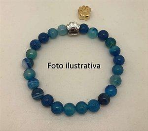 Pulseira Ágata Azul