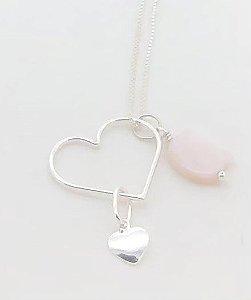 Gatinho Coração Prata