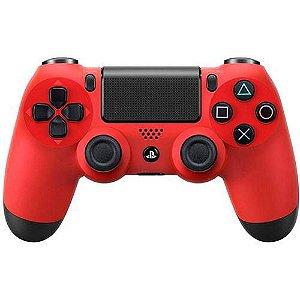 Controle Dualshock 4 Vermelho Pro - Ps4 - Sony