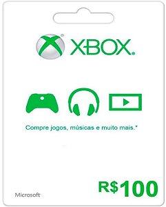 Cartão XBOX Live Brasil R$100 Reais - Microsoft