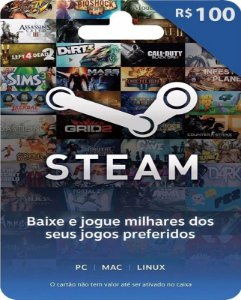 Cartão Pré-Pago R100 Reais - Steam
