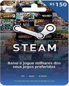 Cartão Pré-Pago R$150 Reais - Steam