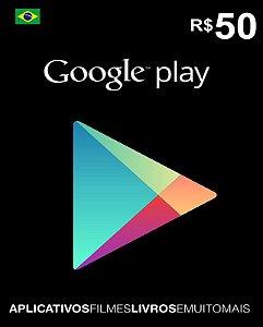 Cartão Google Play R$50 Reais - Google