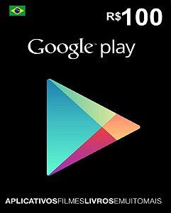 Cartão Google Play R$100 Reais - Google