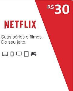 Cartão Pré-Pago R$30 Reais - Netflix