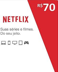 Cartão Pré-Pago R$70 Reais - Netflix