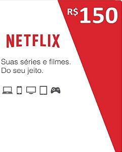 Cartão Pré-Pago R$150 Reais - Netflix