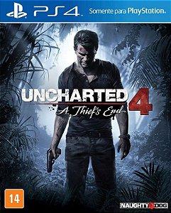 Uncharted 4 A Thief's End - PS4 - Mídia Digital