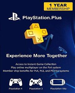 Cartão PSN Plus 12 meses Brasil - Sony