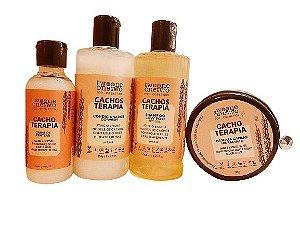 Kit Completo Cacho Terapia: Shampoo + Condicionador + Creme de Pentear + Máscara, Twoone Onetwo