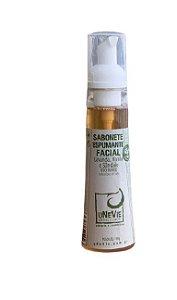 Sabonete Espumante Facial Lavanda, Vanila e Sândalo uNeVie, 150g