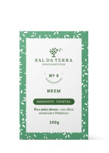 Sabonete em barra Neem, Sal da Terra, 100g V. 12/20