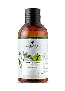 Shampoo Neem & Tea Tree Limpeza Profunda Sem Resíduos, Sal da Terra, 250ml
