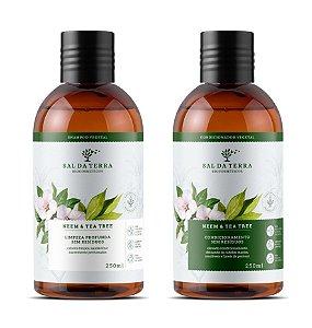 Shampoo e Condicionador Neem & Tea Tree, Sem Resíduos, Sal da Terra