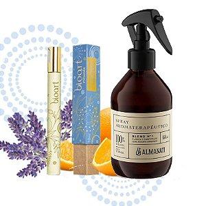 Kit Alegria:Óleo Perfumado Roll On Alegria + Spray Aromaterapêutico Alegria/ Criatividade
