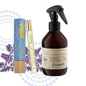 Kit Alegria:Óleo Perfumado Roll On Tranqulidade + Spray Aromaterapêutico Alegria/ Criatividade