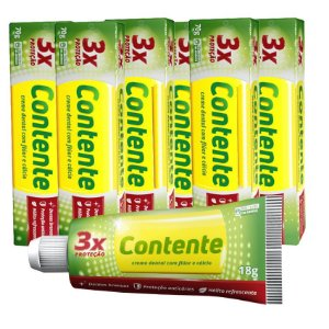 Kit Creme Dental Vegano Contente: Pague 5, leve 6!