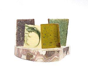 Kit 4 Sabonetes Naturais Para Rosto e Corpo, Unevie - todos os tipos de pele