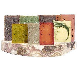 Kit 8 Sabonetes Naturais Para Rosto e Corpo, Unevie - todos os tipos de pele