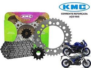 Kit Relação Transmissão Yamaha Mt03/r3 Kmc Com Retentor