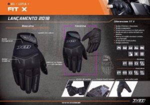 Luva X11 Fit X Modelo Feminino / Masculino TouchScreen P/ Motociclistas,ciclistas e Motocross