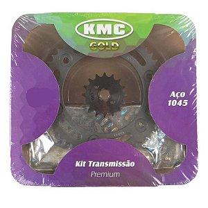 Kit Relação Transmissão Kmc Com rententor Yamaha Ybr 00/08 Factor 125 2009 Em Diante