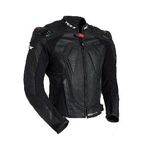 Jaqueta de Couro Texx Modelo New rock evolution Com Cupim Para motociclistas