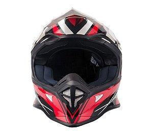 Capacete Helt MotoCross e Trilha Modelo Mx Racing Sem Viseira Profissional