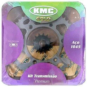 Kit Relação Transmissão Kmc Com Renteor Yamaha Xtz 250 Lander 09 Todas