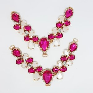 Cabedal V - Joia Chaton Mesclado (Pink)